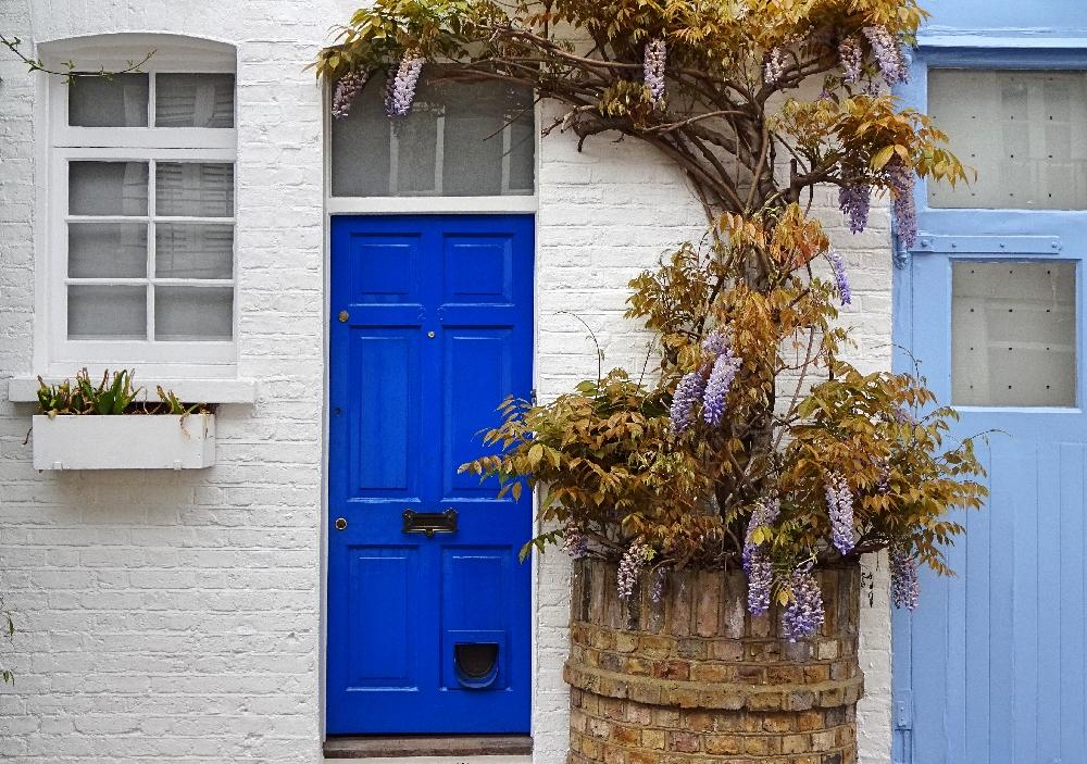 london-blaue-tür