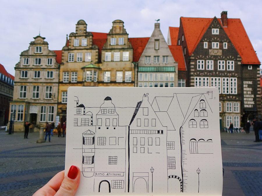 zeichnung-bremer-altstadt